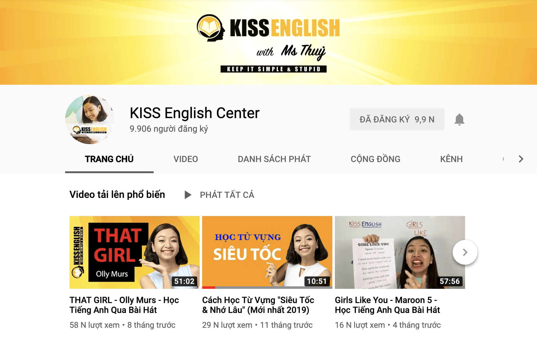 Youtube ​Kiss English Center