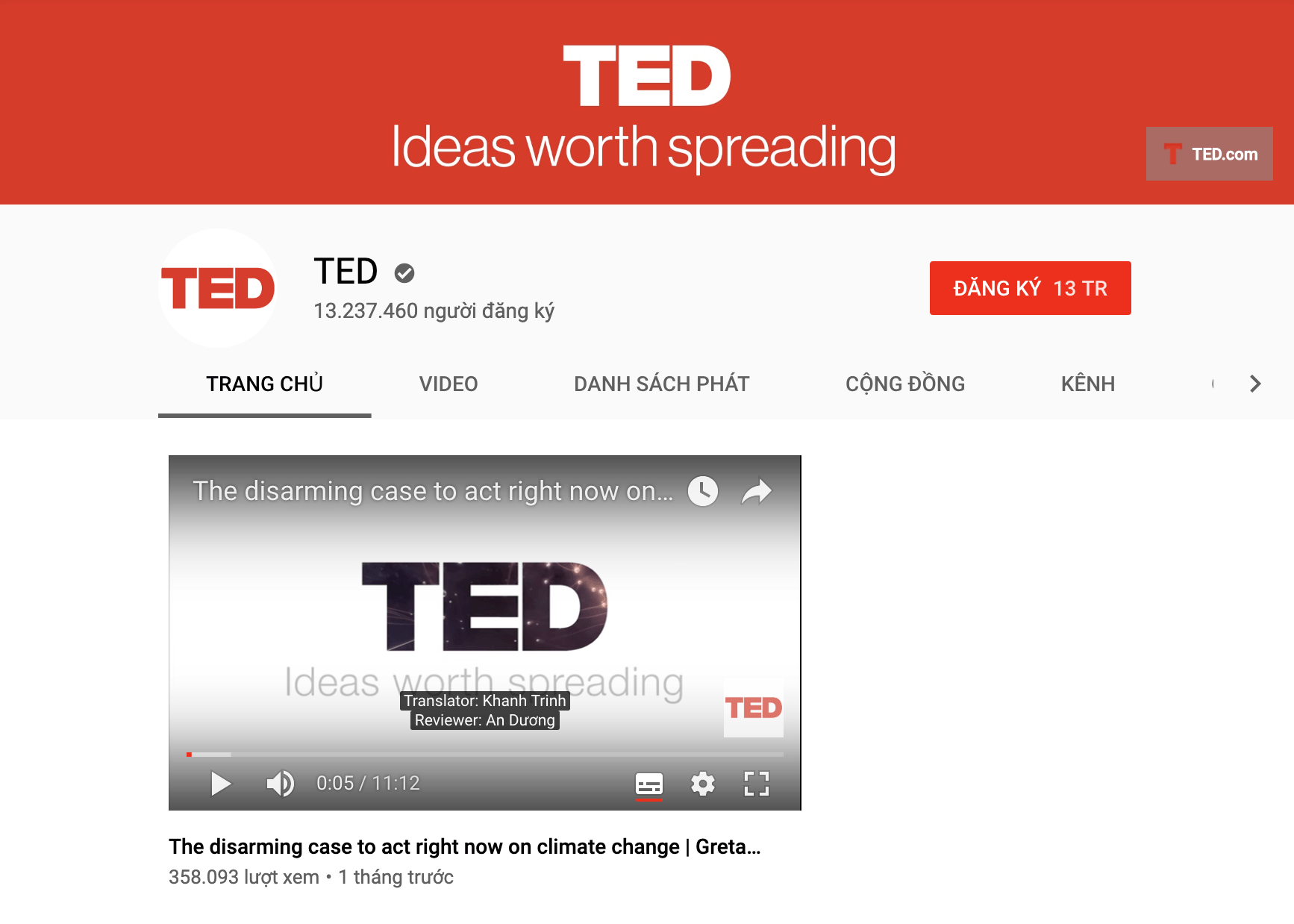 Youtube TED Talks