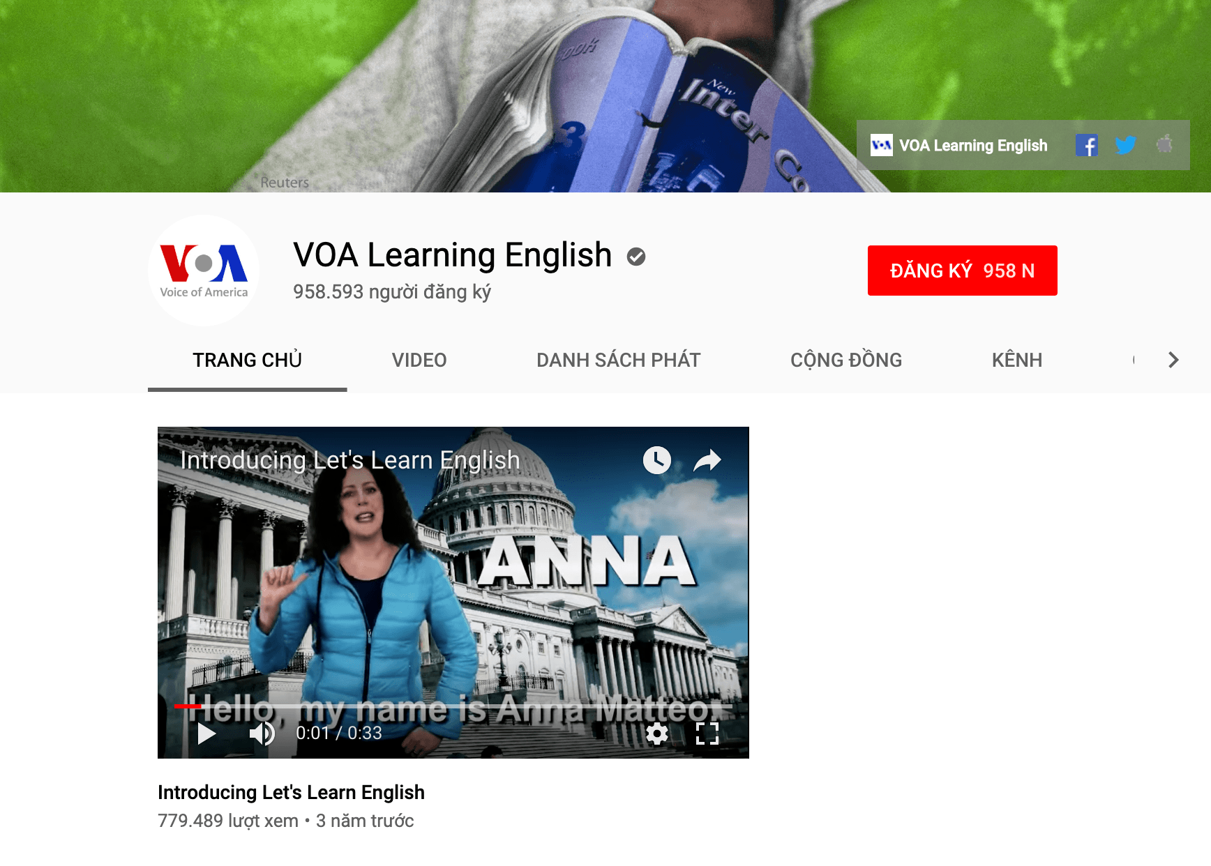Youtube VOA Learning English