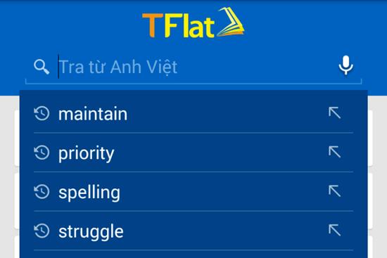 Dễ dàng tra từ với từ điển TFlat