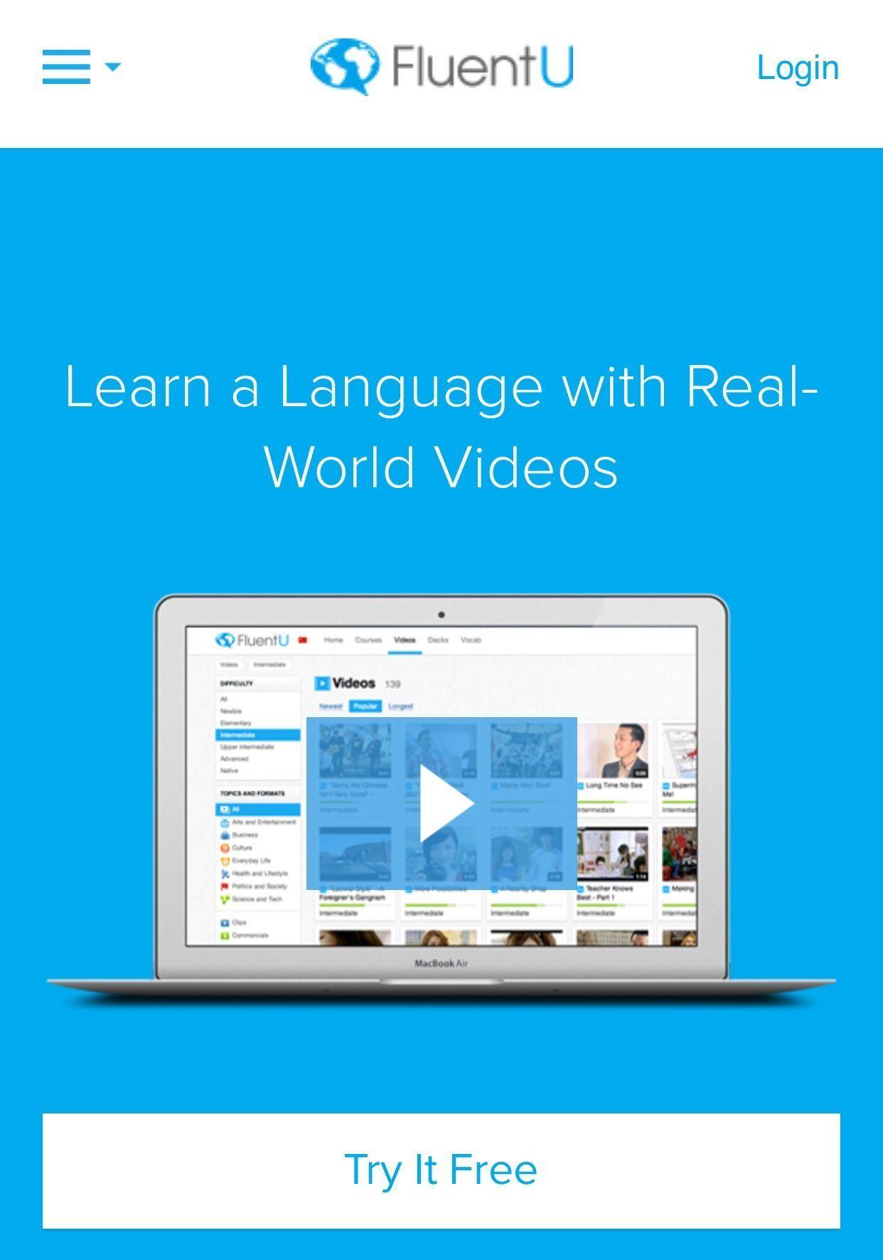 FluentU - học tiếng Anh qua video