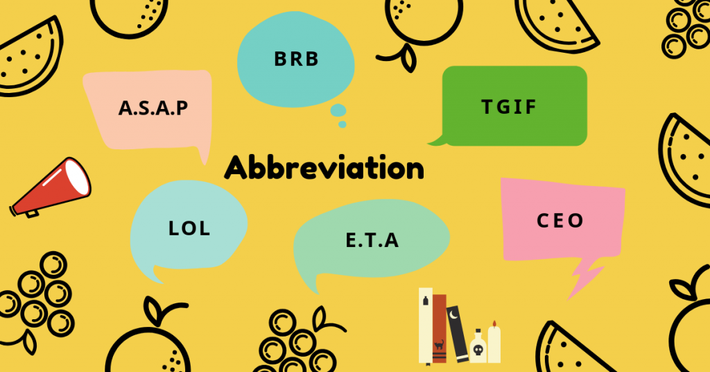 Tổng hợp các từ viết tắt trong tiếng Anh thông dụng nhất