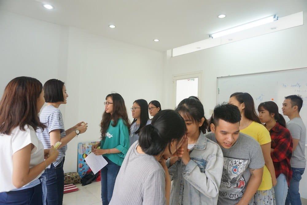 Game học từ vựng tiếng Anh trong lớp học ở KISS English