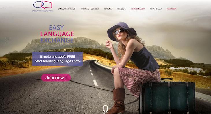 Web học tiếng Anh Easy Language Exchange