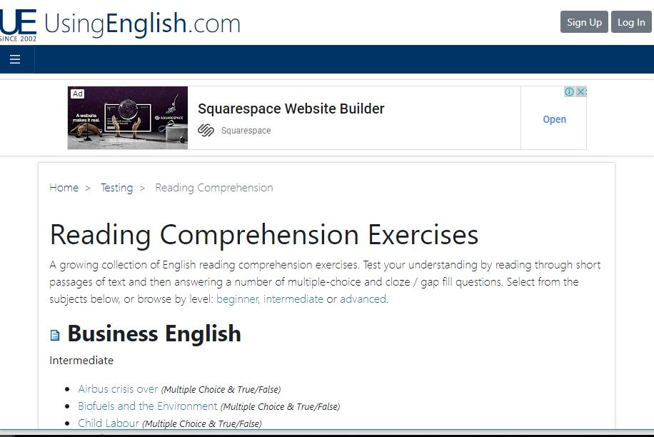 Nguồn luyện đọc: https://www.usingenglish.com/comprehension/
