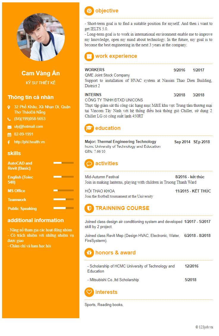 Cách tạo CV bằng tiếng Anh online đúng chuẩn