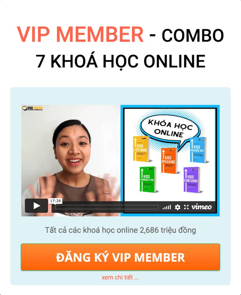 Combo 7 khóa học VIP Member